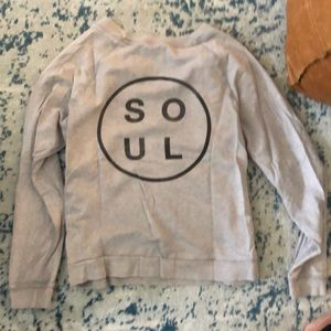 soulcycle Other - SoulCycle crew grey sweatshirt sz m